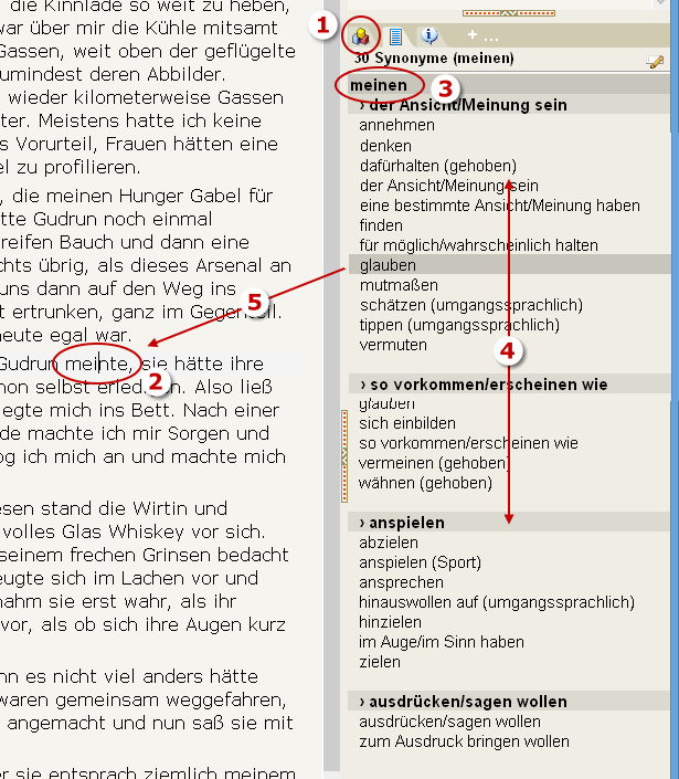 Thesaurus Ersetzungen Mit Der Tastatur Steuern Autorenprogramm